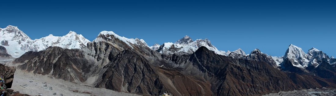 View from Gokio-Ri peak (5357 m) - Khumbu Valley (also known as the Everest Region)