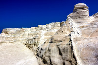 Sarakiniko's cliffs